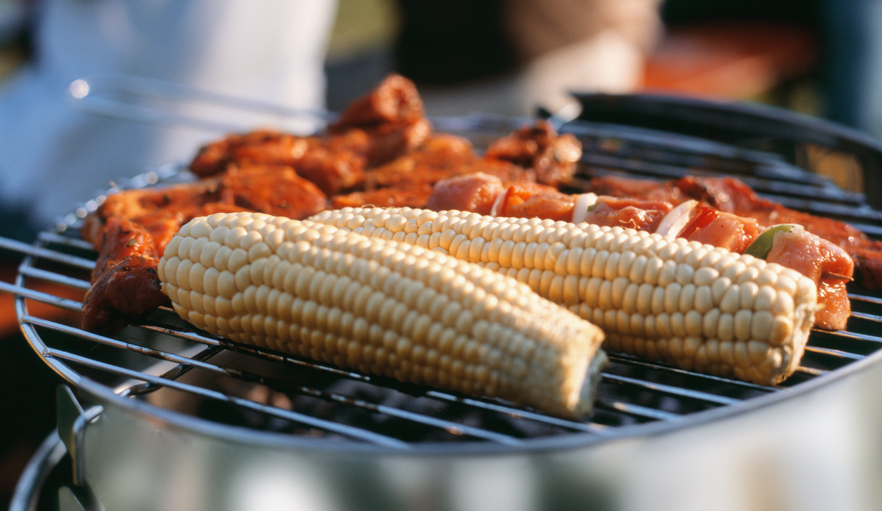Corn-and-Chicken-on-a-Grill